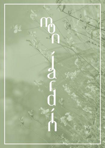 Mon jardin - affiche à télécharger et à imprimer d'inspiration florale • Creative Lune