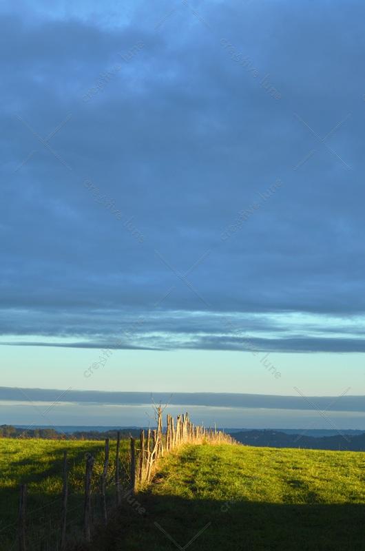 Éclaircie matinale sur un pré - image de campagne libre de droits à télécharger / Photo d'une éclaircie par temps nuageux • Creative Lune