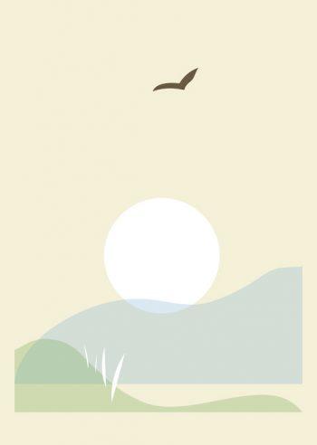 Entre terre et mer - affiche Nature & Paysage à imprimer • Creative Lune